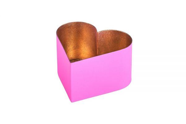 Madras Windlicht Herz Pink - M -