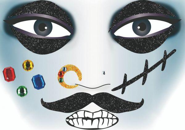 Face Art Sticker - Pirat