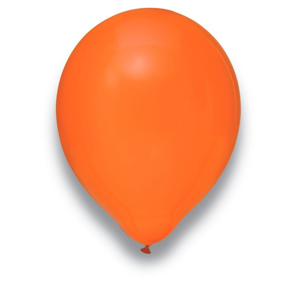 Latexballon Kristall Orange 100 Stück Ø 30cm
