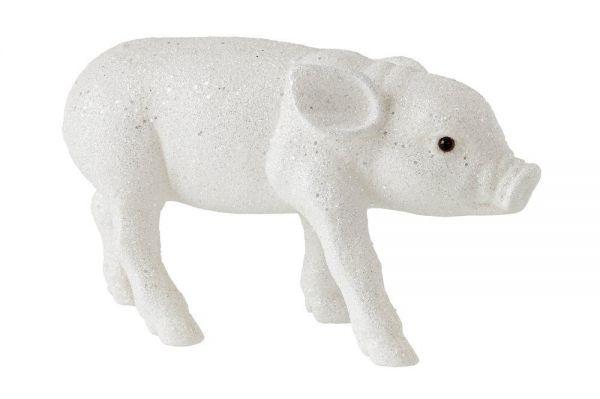 Solna Schweinchen L - Glitzer Weiß