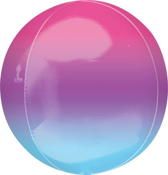 Orbz Ballon Ombré Lila & Blau 40cm