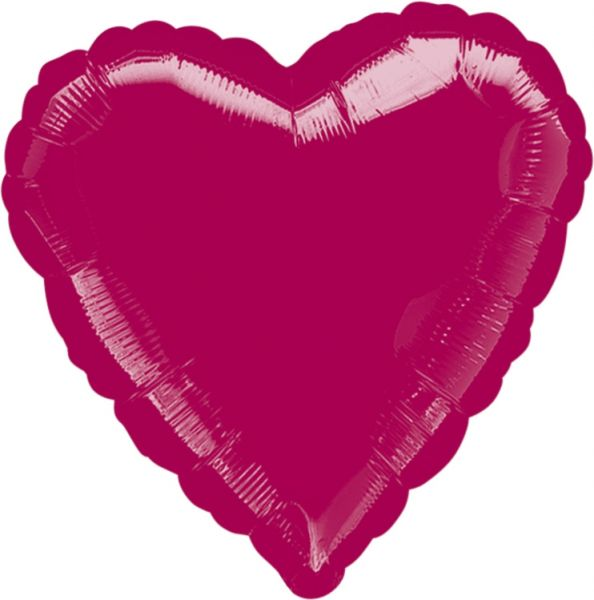Folienballon Herz Bordeaux 45cm