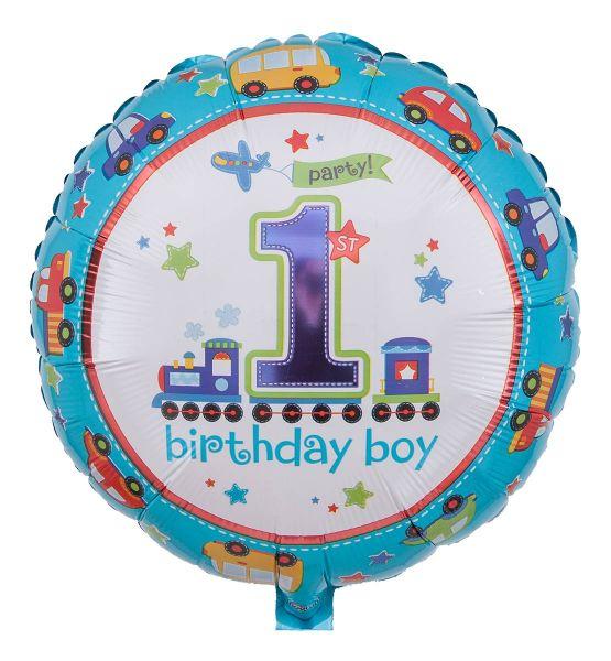 Folienballon All Aboard Birthday Boy 43cm