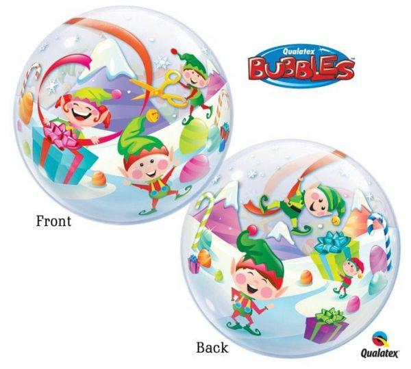 Bubble Ballon Weihnachtswichtel 56 cm