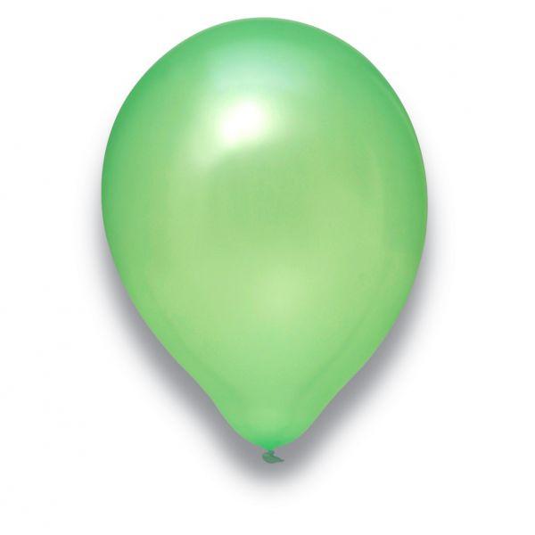 Latexballon Pearl Hellgrün 100 Stück Ø 30cm