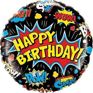 "Folienballon ""Happy Birhtday"" WOW 46cm"