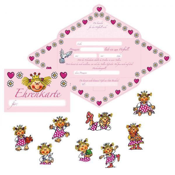 Prinzessin Miabella - Einladungskarten-Set 24 tlg.