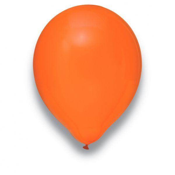 Latexballon Kristall Orange 50 Stück Ø 30cm