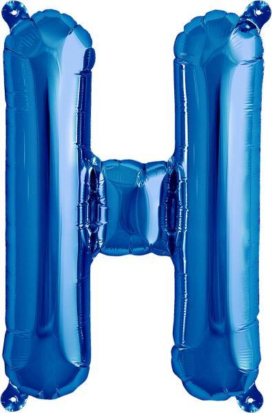 Luftballon Buchstabe H Blau 40cm