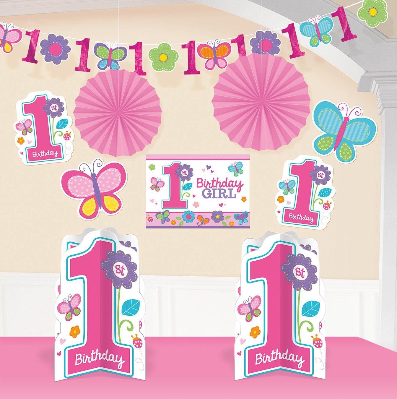 sweet birthday girl 1 geburtstag deko set 10 tlg f r m dchen 1 geburtstag baby party. Black Bedroom Furniture Sets. Home Design Ideas