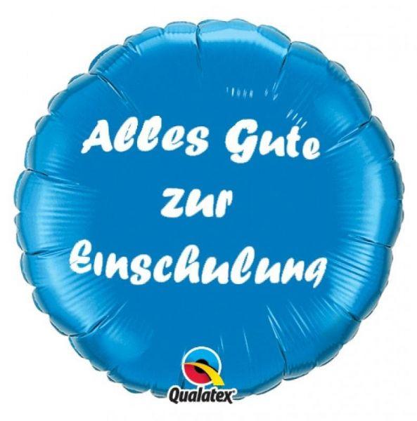 Folienballon Alles Gute zur Einschulung Blau 46cm