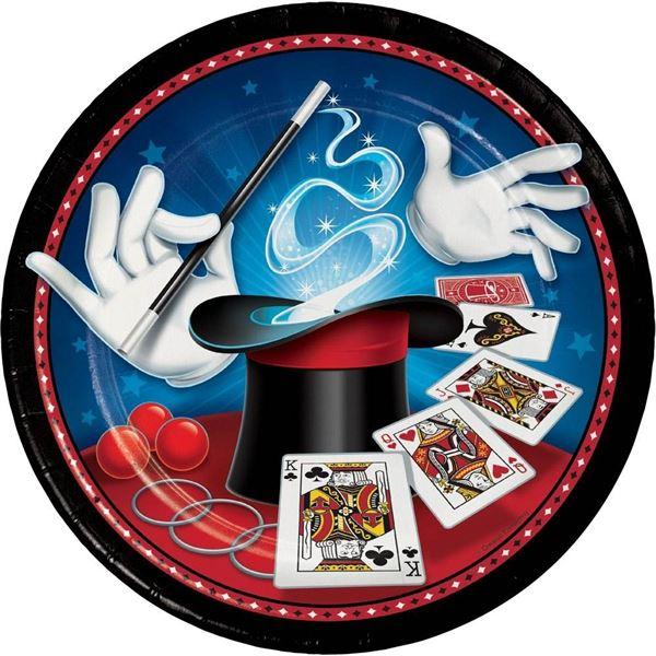 Zauberer Party - 8 Pappteller