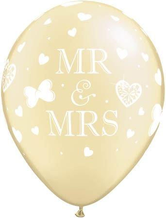 Qualatex Ballon Mr. & Mrs. Pearl Elfenbein 30cm
