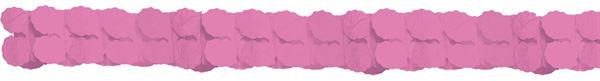 Rosa - Papiergirlande