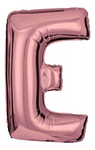 Folienballon Buchstabe E Roségold 100cm