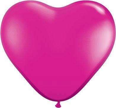Latexballon Herz Fuchsia Ø 45cm