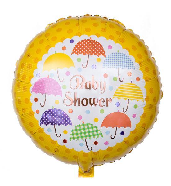 Folienballon Baby Shower Regenschirme 45 cm