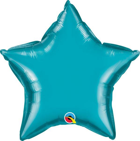 Folienballon Stern Türkis 45cm