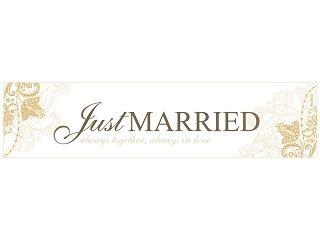 """Nummernschild Aufkleber zur Hochzeit """"Just Married"""""""