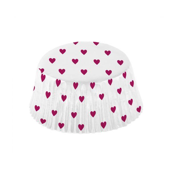 48 Cupcake Förmchen mit Herzchen