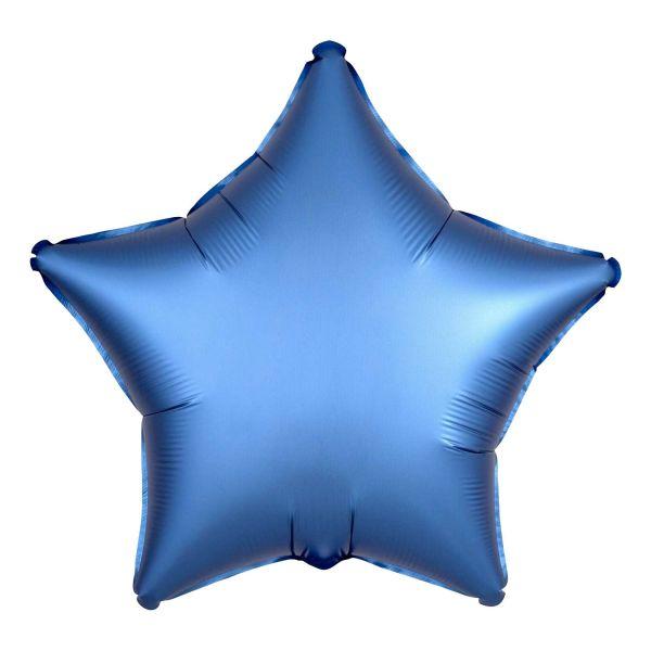 Folienballon Stern Satin Azur Blau 45cm