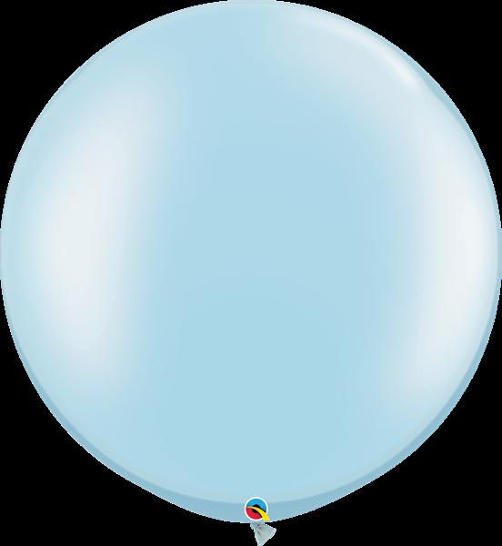 Qualatex Latexballon Gigant Pearl Light Blue Ø 75cm