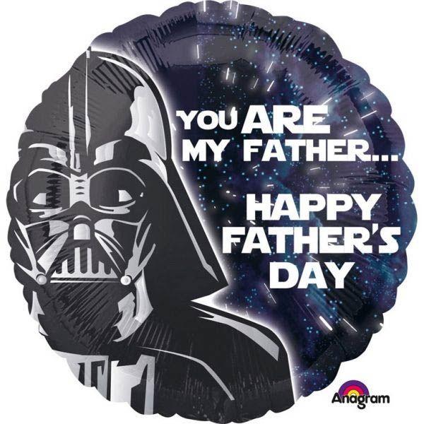 Folienballon Darth Vader zum Vatertag 43cm