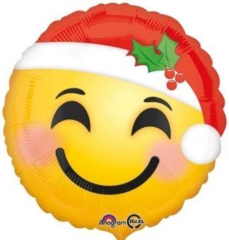 Ballon Weihnachtsmann Emoji 45cm