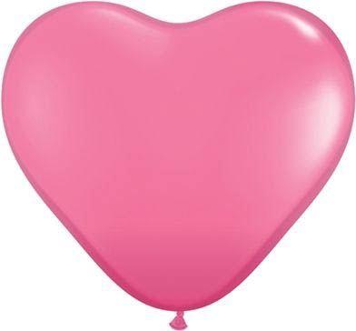 Herzballon Rosa 45cm