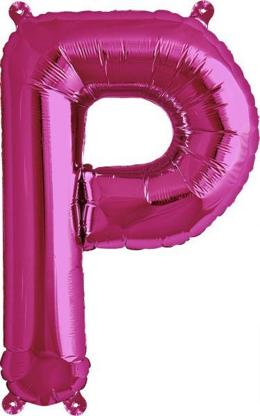 Luftballon Buchstabe P Pink 40cm