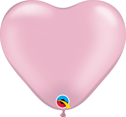 Qualatex Herzballon Pearl Rosa 15cm