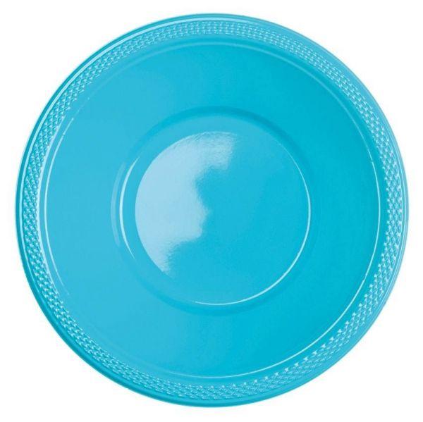 Karibik Blau - 10 Plastikschüsseln