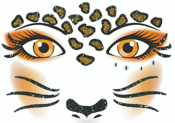 Face Art Sticker - Leopard