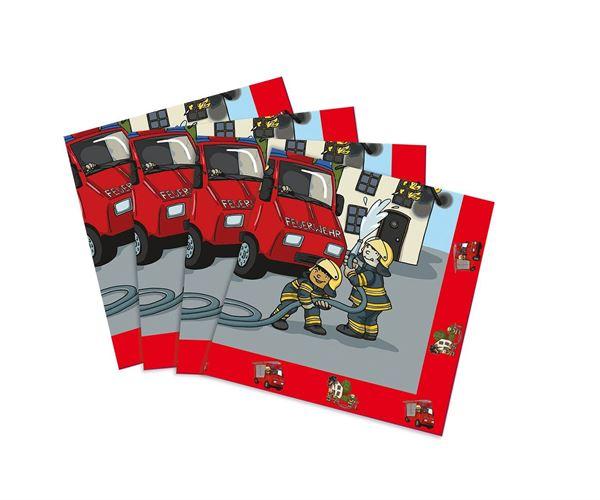 Feuerwehr - 20 Servietten 33x33 cm