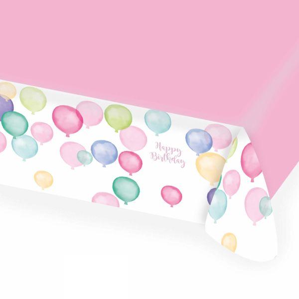 Happy Birthday Pastell - Papiertischdecke