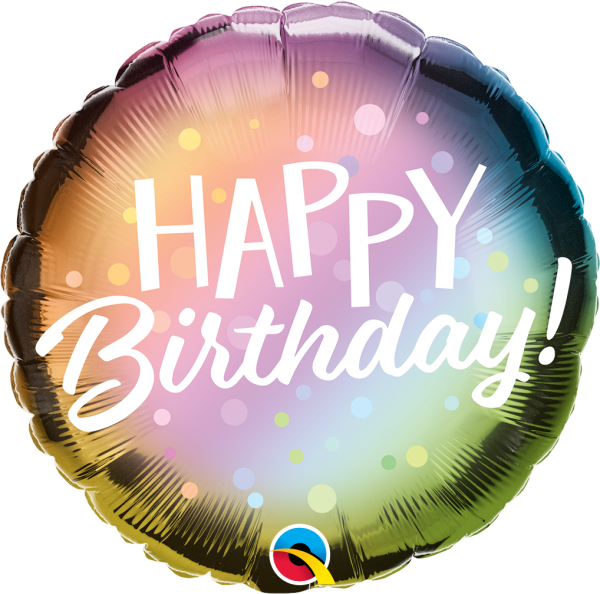 "Folienballon ""Happy Birthday"" Metallic Ombré 45cm"