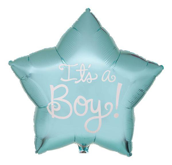 Folienballon Stern It's a Boy! Ø 56cm