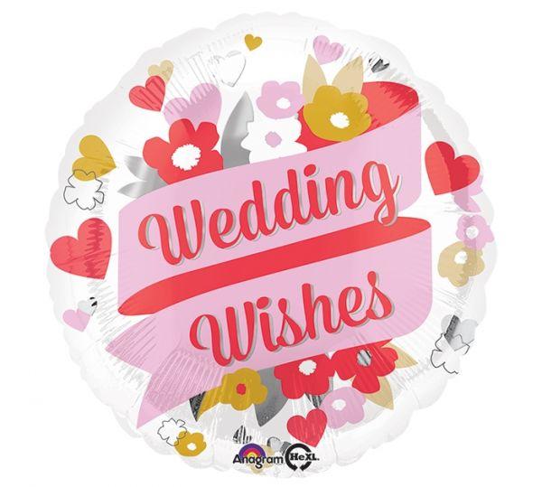 Folienballon Florale Wedding Wishes 45cm