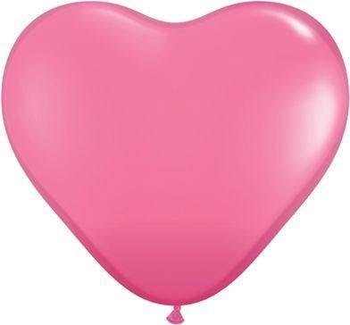 Qualatex Latexballon Herz Rose Ø 15cm