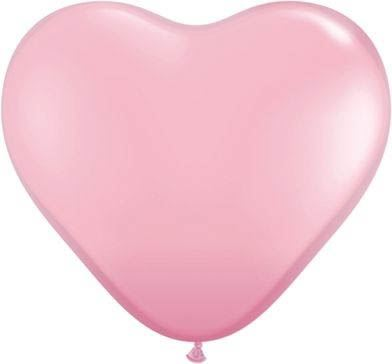 Qualatex Herzballon Rosa 15cm