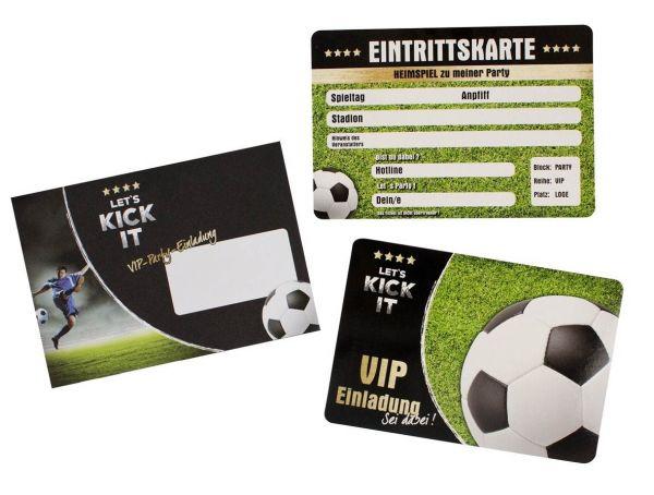 Fußball - VIP-Party Einladungskarten