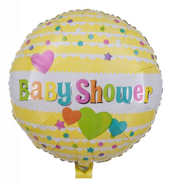 Folienballon Baby Shower Gelb 43cm