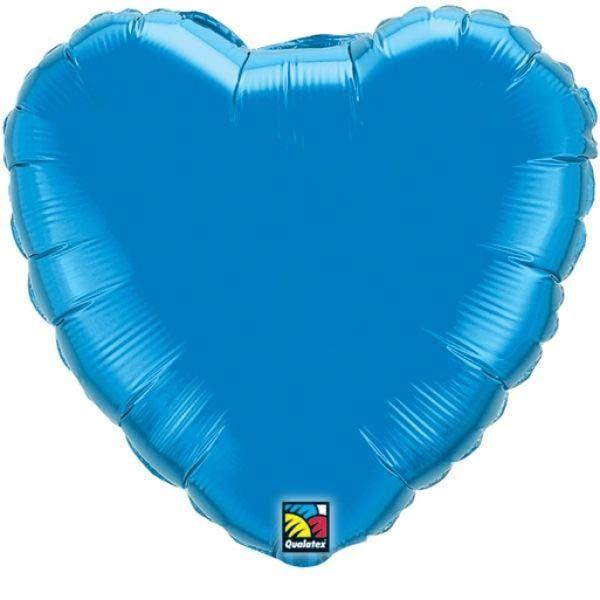 Folienballon Herz Saphirblau 45cm