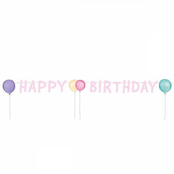 Happy Birthday Pastell - Partykette