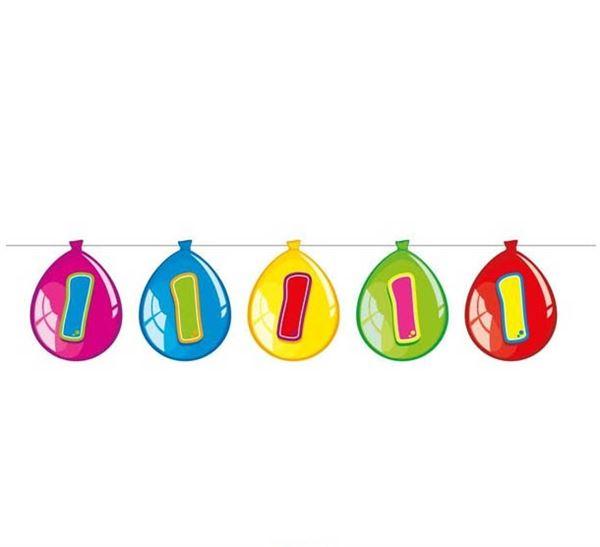 Luftballon-Wimpelkette zum 1. Geburtstag