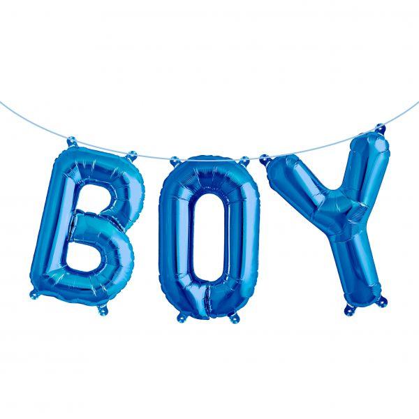 "Folienballon Girlandenset ""BOY"" Blau"