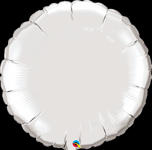 Folienballon Rund Silber 90 cm