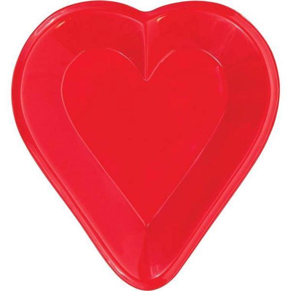 Casino Nacht - Plastikteller Herz