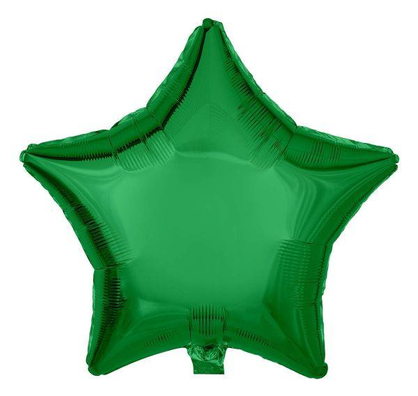 Folienballon Stern Smaragdgrün 45cm