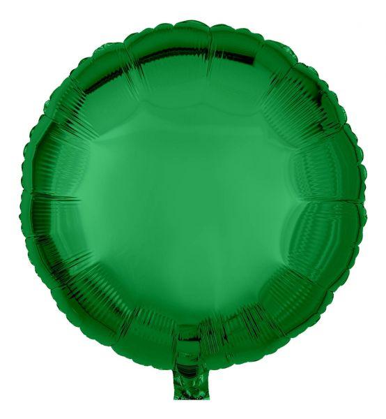 Folienballon Rund uni Smaragdgrün 45cm